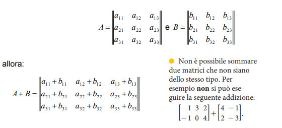 Somma Tra Matrici.Operazioni Con Le Matrici Matematica Oltre